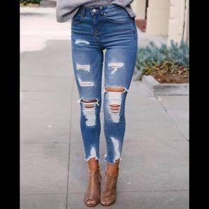 Denim - Blue Age High Waist Boutique Jeans